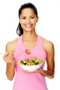 Eating veggies1